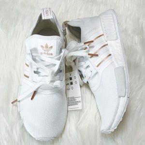 Adidas Shoes Nmd R1 White Rose Gold Poshmark